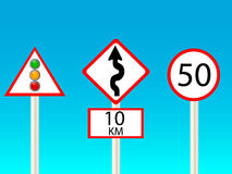 Signs for traffic Stock Photography