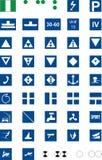 Signs traffic river, Informative. Informative signs for river navigation,  illustration navigation Stock Photography