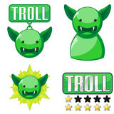 Signs for troll Stock Image