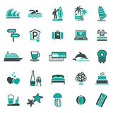 Signs. Vacation, Travel & Recreation. Third royalty free illustration