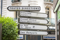Signs, Vannes Royalty Free Stock Photography