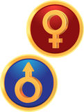 Signs Venus And Mars Royalty Free Stock Images