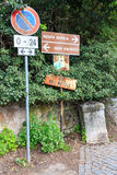 Signs at the Via Appia royalty free stock images