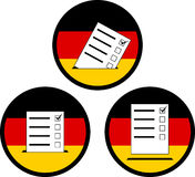 Signs of voting in germany Royalty Free Stock Photography
