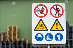 Free Signs Warn Of Job Security. Royalty Free Stock Photos - 91397918