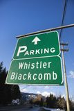 Signs for Whistler Blackcomb. Stock Photos