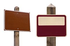 Signs With Clipping Paths Stock Photography