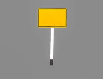 Signs yellow rectangles. Sign yellow square isolated on gray background Stock Images