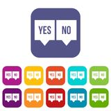 Signs of yes and no icons set Royalty Free Stock Photo