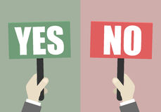 Signs Yes No Stock Photography