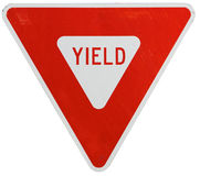 Signs: Yield To Traffic Royalty Free Stock Image