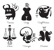Signs of the zodiac Stock Images