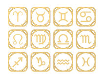 Signs of the zodiac Stock Photography