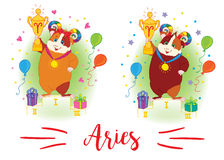 The signs of the zodiac. Guinea pig. Aries. Royalty Free Stock Photos