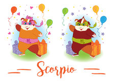 The signs of the zodiac. Guinea pig. Scorpio. Stock Image