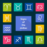 Signs of the zodiac,  illustration Royalty Free Stock Image