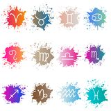 The signs of the zodiac. Set of colorful isons. EPS 8 Stock Photo