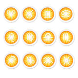 Signs of the zodiac. Set of 12 zodiac horoscope icons royalty free illustration