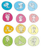 12 Signs of the Zodiac. For to horoscopes, games, coloring books for children, marking about vector illustration