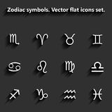 Signs of the zodiac. Vector flat icons Royalty Free Stock Image