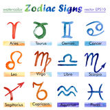 Signs of the Zodiac watercolor Stock Photo