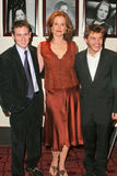 Sigourney Weaver, Emile Hirsch, Dan Harris. Writer/Director Dan Harris, Sigourney Weaver and Emile Hirsch at the Los Angeles Premiere of Imaginary Heroes at the Royalty Free Stock Photo