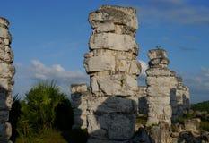 Sigtseeing τουρισμός ταξιδιού πολιτισμού ιστορίας της Maya Μεξικό πυραμίδων Ake Στοκ φωτογραφία με δικαίωμα ελεύθερης χρήσης