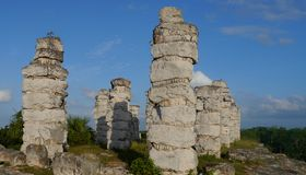 Sigtseeing τουρισμός ταξιδιού πολιτισμού ιστορίας της Maya Μεξικό πυραμίδων Ake Στοκ Εικόνες
