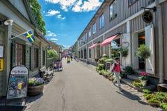Sigtuna - la più vecchia città in Svezia immagini stock libere da diritti