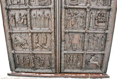 Sigtuna (Magdeburg)  gate, St. Sophia Cathedral, detail. Royalty Free Stock Images