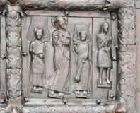 Sigtuna (Magdeburg)  gate, St. Sophia Cathedral, detail. Stock Images