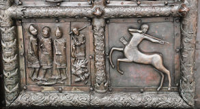 Sigtuna (Magdeburg)  gate, St. Sophia Cathedral, detail. Royalty Free Stock Photos