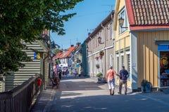 Sigtuna - stary miasteczko w Szwecja Zdjęcia Stock