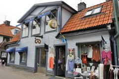 Sigtuna, Sweden - Shoping in Sigtuna Stock Photo
