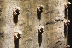 Sigue habiendo la vista detallada de las fundaciones de la torre gemela en el museo conmemorativo 9-11 nacional en Manhattan más  Foto de archivo