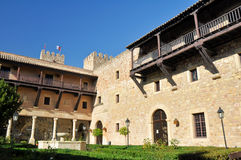 Siguenza castle, now State-run hotel , Guadalajar Royalty Free Stock Photo