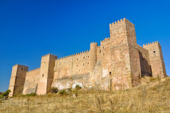 Siguenza castle, now State-run hotel , Guadalajara Stock Photography