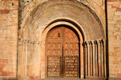 Siguenza Cathedral entry Stock Image