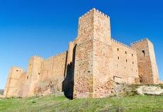 Siguenza slott, gammal fästning i Guadalajara, Spanien Royaltyfri Bild
