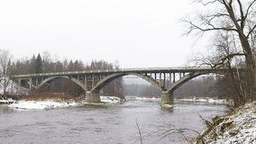 Sigulda Bridge stock footage