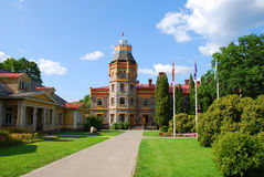 Sigulda Castle. Also known as Sigulda New Castle, was built during the end of the 19th Century and is located in Sigulda, Latvia. From 2003 it  houses the Stock Images
