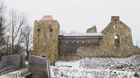Sigulda Castle stock footage