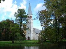 Sigulda Church Stock Image