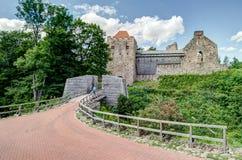 Sigulda Medieval Castle ruins Stock Photos