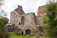 Sigulda mittelalterliches Schloss Stockbilder