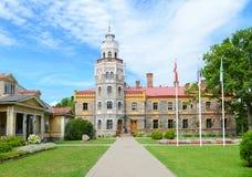 Sigulda New Castle and park. Latvia royalty free stock image