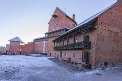 Sigulda O castelo velho restaurado do cruzado Foto de Stock