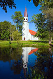 Sigulda's Lutheran church Stock Photography