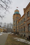Sigulda Town Council located in 19-th century castle. Sigulda castle was built in 1878. Stock Photo