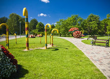 Sigulda Town Stock Photography